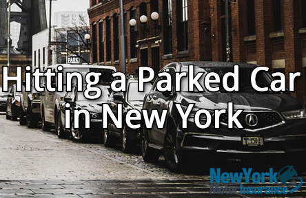 hitting parked car in NY